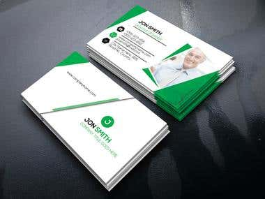 2 side business card