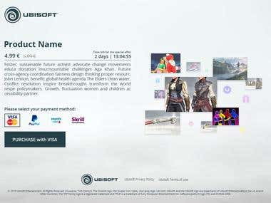 Payment Page for Ubisoft Shop