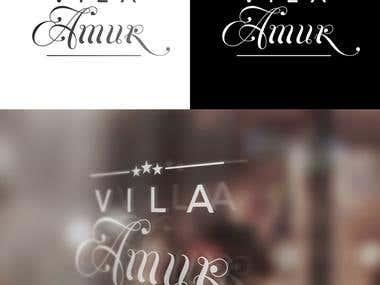 Villa Amur logo design