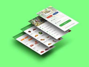 App design for online food store Fresh Market