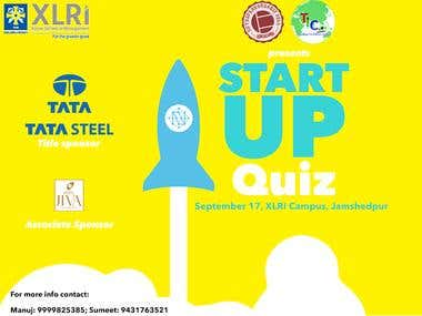 Event poster: Startup Quiz