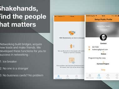 Shakehands - business networking