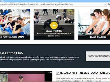 PHYSICALLY FIT- 2nd version responsive website