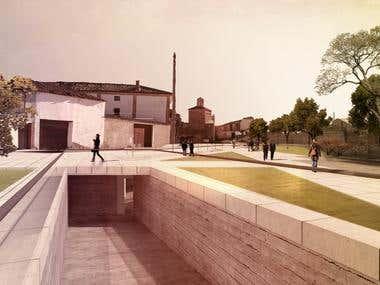 3d render of War museum