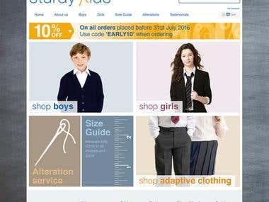 Sturdy Kids Large E-Commerce Web Site (Magento Development)