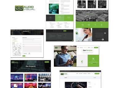 Audio Visual Wordpress Web Site