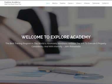 Explore Academy - Website for Training Institute