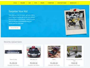 Resale Kids Gear - Website