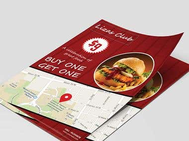 Location based Restaurant Flyer