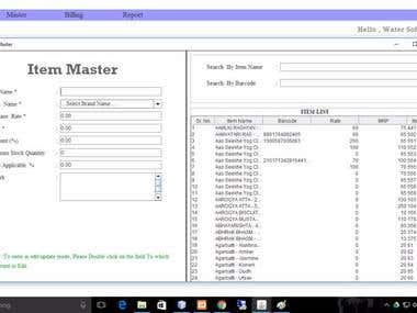 Desktop based Billing Application