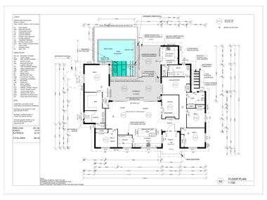 Covert House plan Image to Autocad