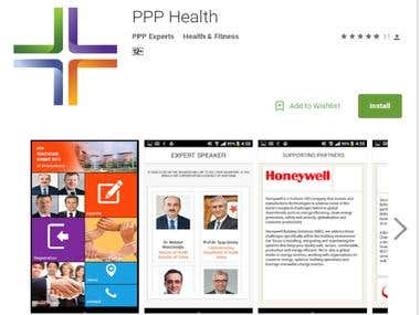 Android  IOS app PPP Health