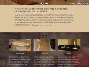 Wordpress Website - Natural Stone Company