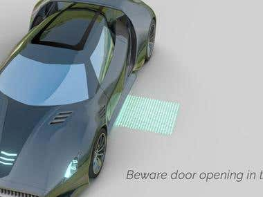 3D promotional image for futuristic car lighting article