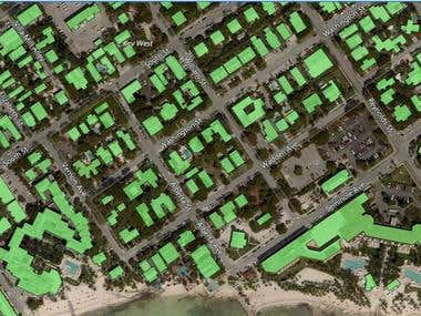 Creating building footprint from LIDAR data