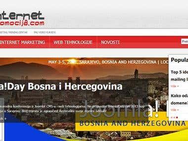Web portal about internet marketing