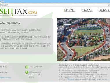 SEHTAX- Simple, short notice responsive website design