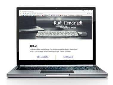 Landing Page of Rudi Hendriadi Web Designer & Developer