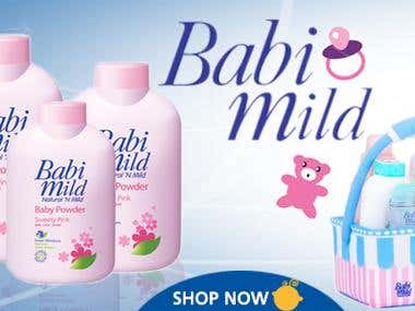Website Templates Designs for online stores Babies Product