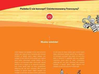 Projekt i zakodowanie strony internetowej - wordpress