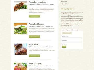 Culinary website + recipe formats