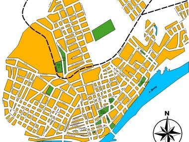 Map of Kherson