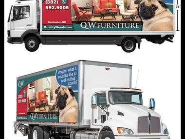 "Wrap Truck Design - Sizes 194""x72"""