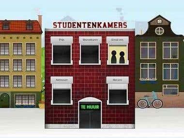 Student apartments rental site