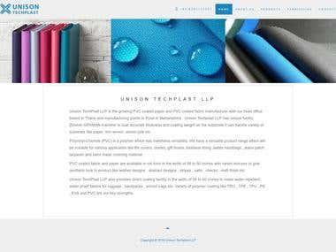 A website I made for a client - Unison Techplast