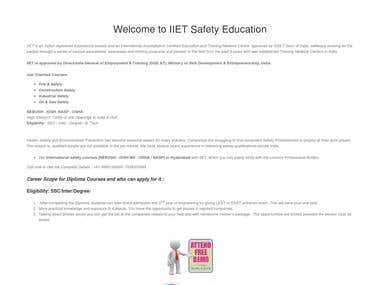 Wordpress - Fire Educational Institute
