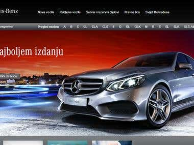 Projects for local Mercedes-Benz website