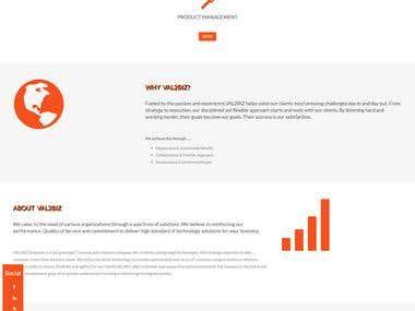 Val2Biz- Website for a startup