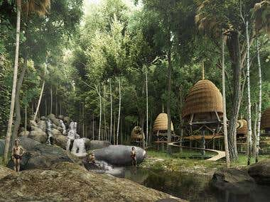 Conceptual Tree House Resort