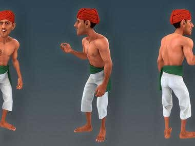 3d Character: The worker