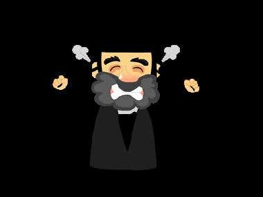 Rabbi Sholmo - iMessage Sticker App
