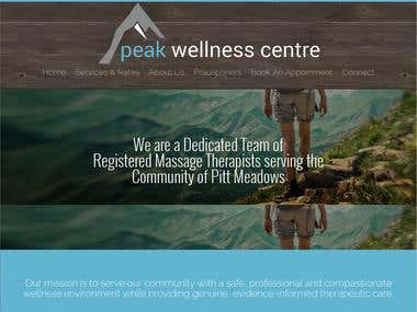 Peak Wellness Center - Responsive Website
