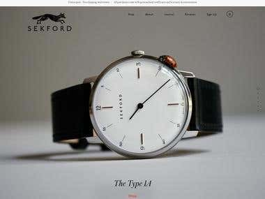 E-commerce for watches Sekford