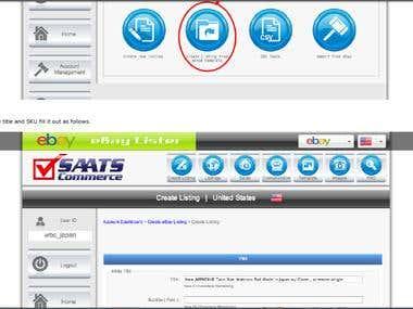 eBay SAATS Commerce listing (SEO)