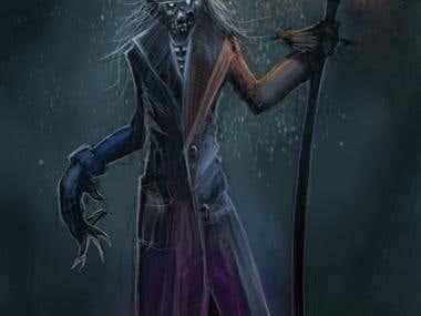 Necromancer Fantasy Character