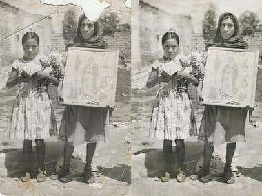 restauracion de fotografia / Photo restoration