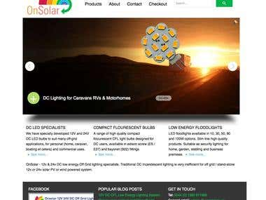 OnSolar Company Website