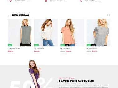 PSD to Responsive Ecommerce Site