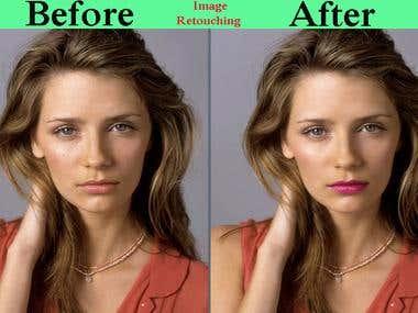retouching image
