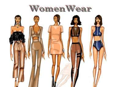 Illustration Womenwear