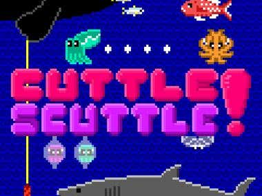 Cuttle Scuttle pixel art illustration