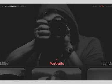 A photography-inspired website