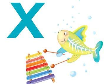 Alphabet - letter X