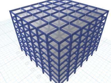 8 stories building 3d model .
