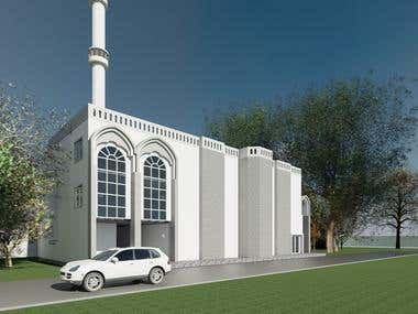Perspective View_Mosque
