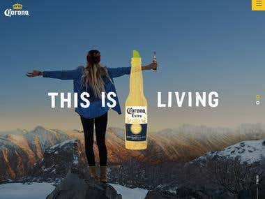 Website for Corona beer